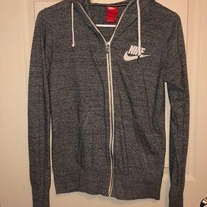 Heather grey Nike's zip up